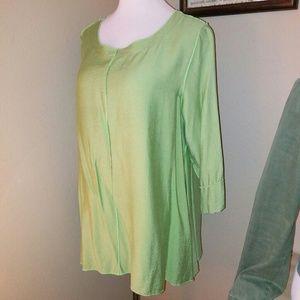 Mint green tunic